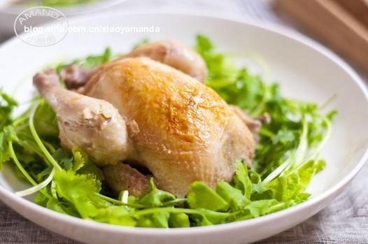 葱姜盐�h童子鸡的做法