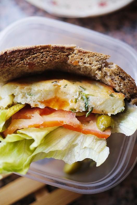 土豆素三明治的做法
