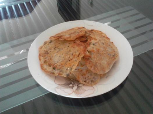 葱香豆渣饼的做法