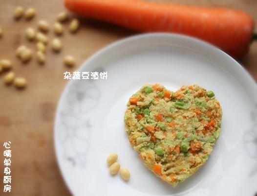 杂蔬豆渣饼的做法