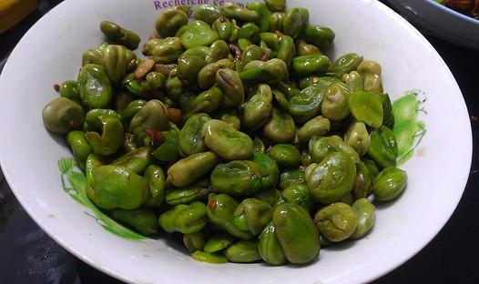青炒蚕豆的做法