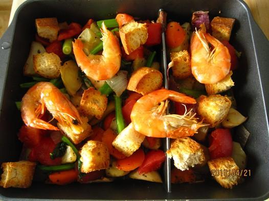 烤蔬菜沙拉的做法