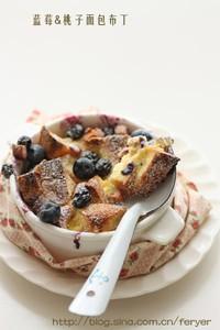 蓝莓桃子面包布丁的做法步骤2