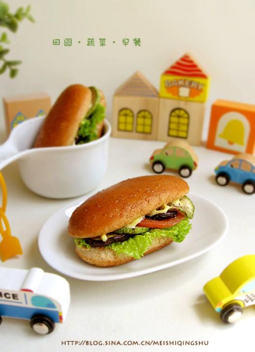 扒蔬菜三明治的做法