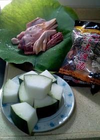 冬瓜水鸭汤的做法步骤1