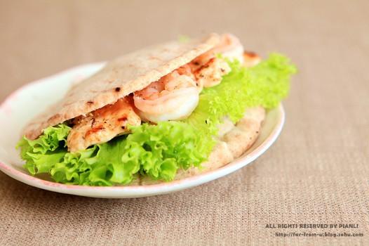鲜虾鸡肉皮塔饼(2)的做法
