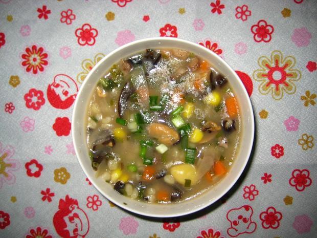 低卡美味――杂菜魔芋米粥的做法