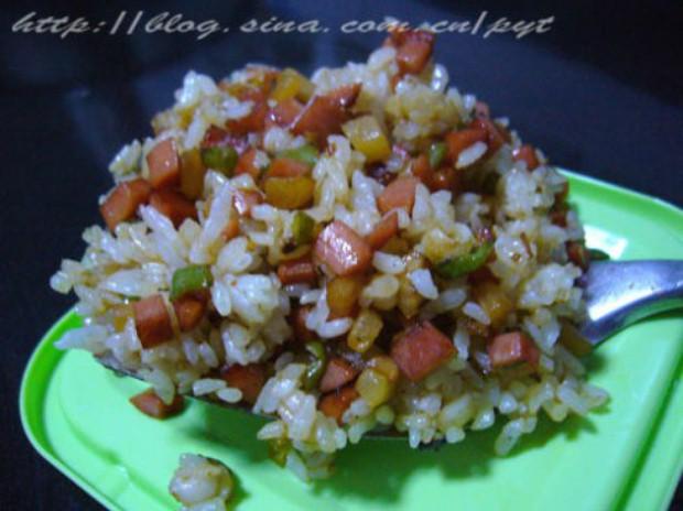 三丁炒饭的做法图片