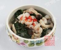 虾仁鸡汤煮红薯叶的做法步骤4