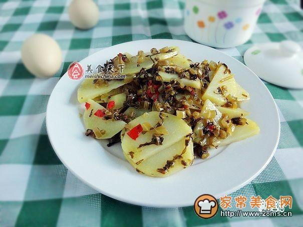 水腌菜炒菜谱片的洋芋_做水腌菜炒洋芋片吃晚上什么做法小孩子图片