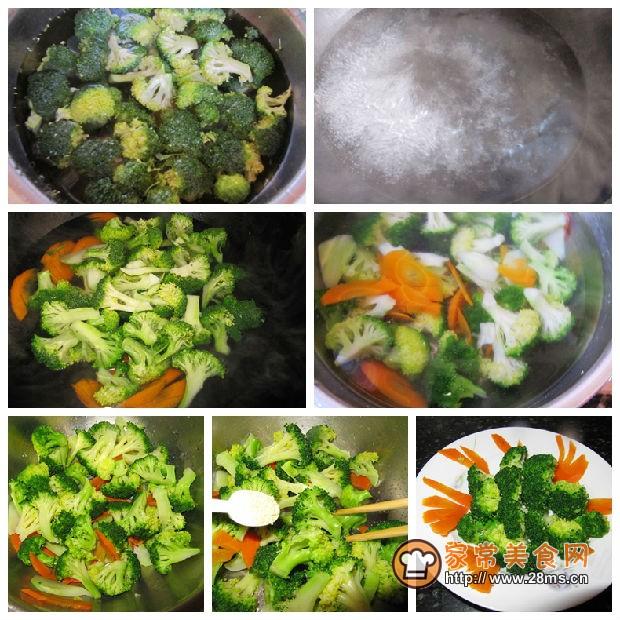 葱油西兰花的烹饪制作过程
