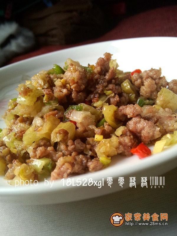 川菜版芹菜肉末的做法