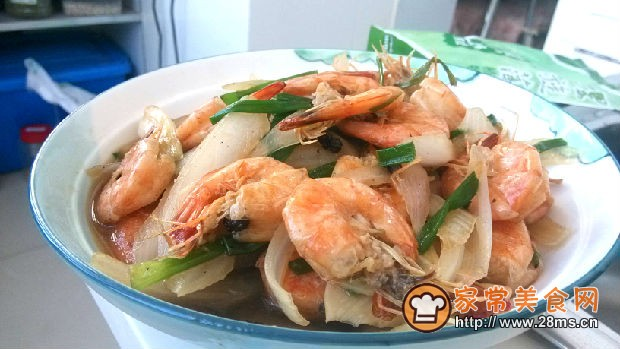 清焖虾儿童菜的做法