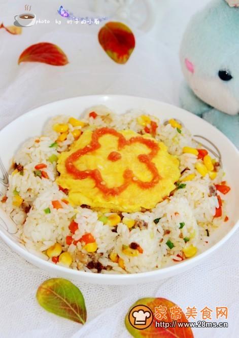 美食网为您提供儿童创意菜谱花朵炒饭的家常做法大全图片