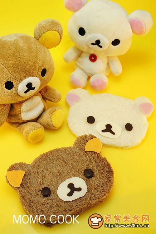 可爱的早餐轻松小熊面包片的做法