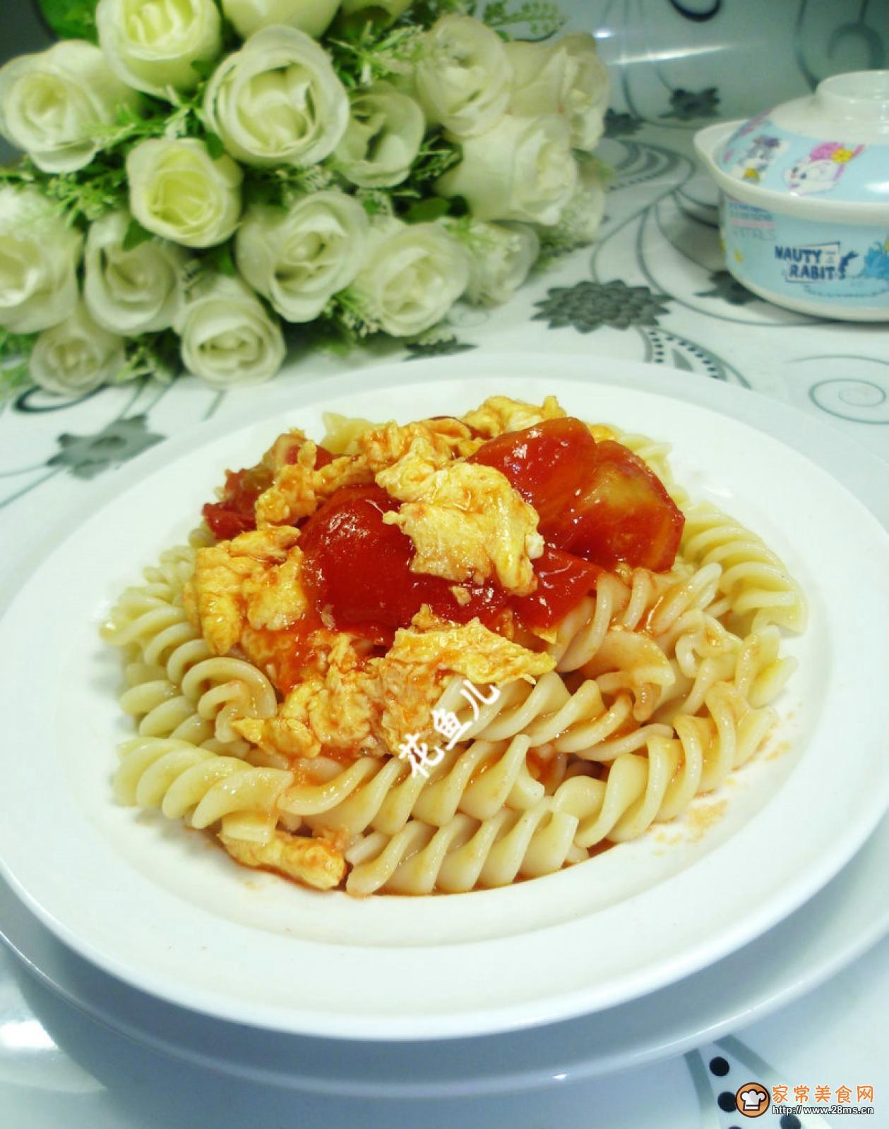 螺丝 番茄 炒鸡蛋 面的/怎么做番茄炒鸡蛋盖浇螺丝面好吃?