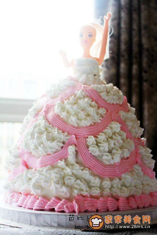 芭比娃娃蛋糕的做法图片
