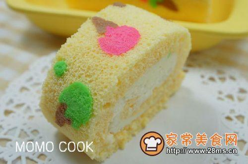 冰激凌模样的彩绘蛋糕卷的做法