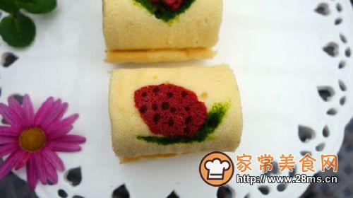 彩绘草莓蛋糕卷的做法