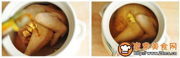 芦笋榆黄蘑炖鸡汤