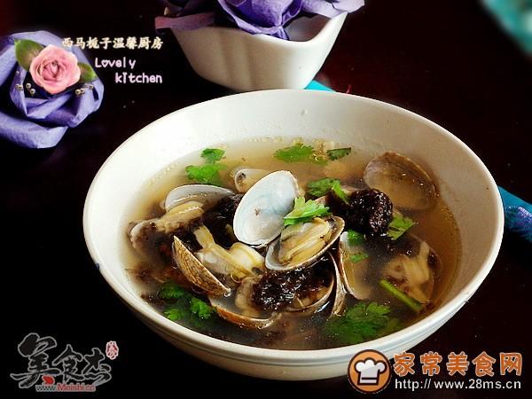 家常美食网 特色菜谱 海鲜菜谱 >花蛤紫菜汤的做法    2.