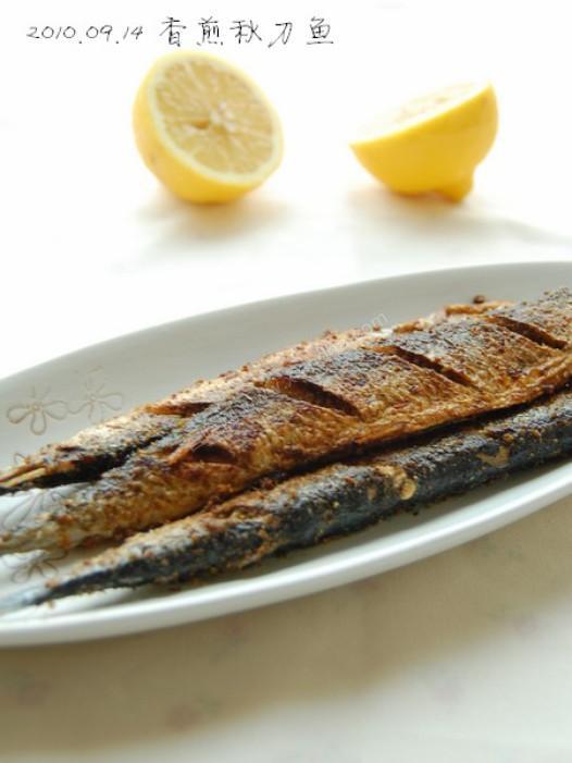 香煎秋刀鱼的做法
