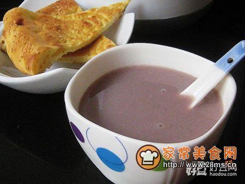 紫薯双豆糯米浆