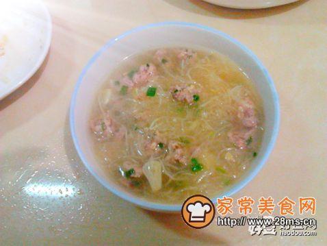 萝卜丝儿肉丸汤的做法