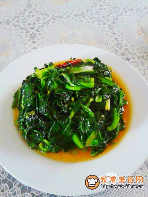 炒青菜的做法图解步骤