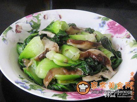 亲手教你青菜炒香菇
