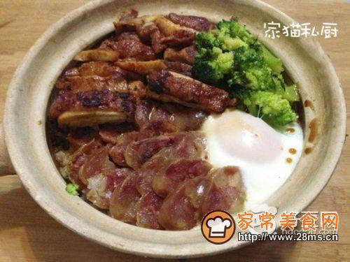 广式三拼煲仔饭