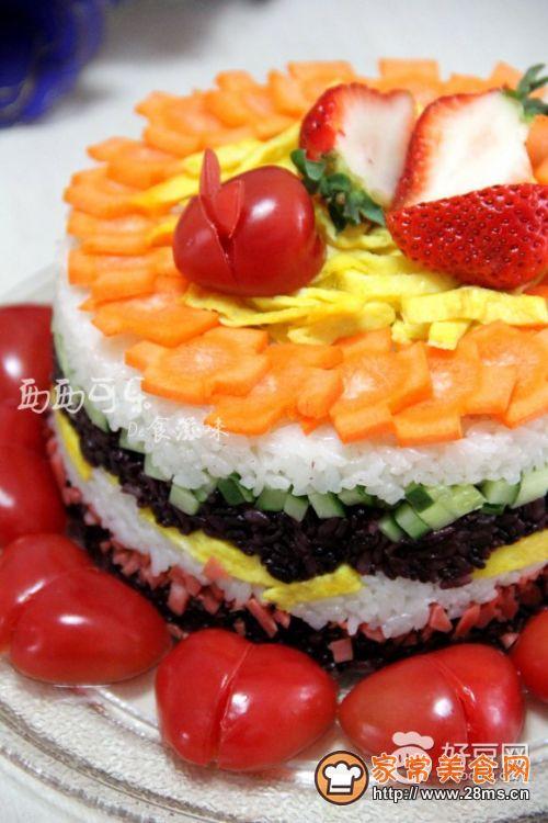 米饭寿司蛋糕的做法