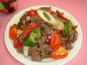 辣椒炒牛肉的做法步骤8