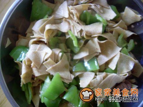 干豆腐炒辣椒