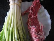 香葱爆羊肉的做法步骤1