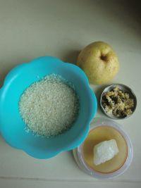 菊花鸭梨粥的做法步骤1