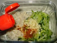 凉拌金针菇黄瓜的做法步骤9