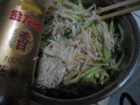 凉拌黄瓜豆皮金针菇的做法步骤7