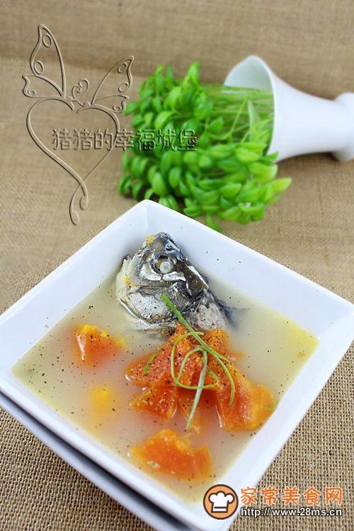 催乳食谱——木瓜鲫鱼汤