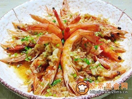 【美食家主题赛--第三季】蒜蓉开片虾的做法