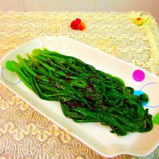 快炒素菜蚝油莴笋叶的做法图片