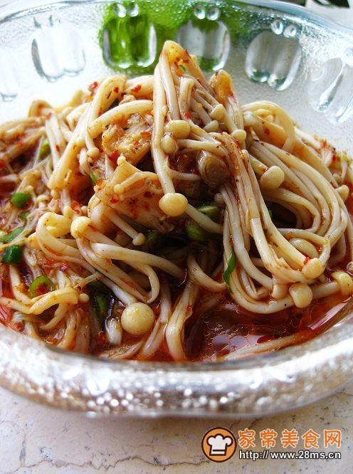 麻辣小凉菜拌金针菇的做法
