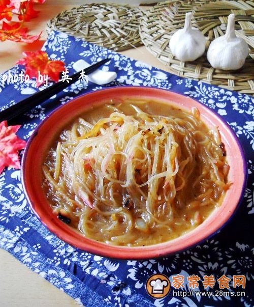东北萝卜丝粉条汤的做法