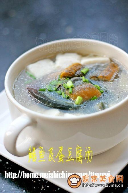 鳝鱼皮蛋豆腐汤的做法