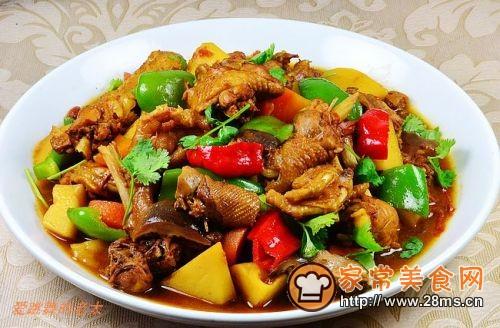 家庭版新疆大盘鸡的做法