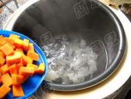 红豆南瓜银耳羹的做法步骤6