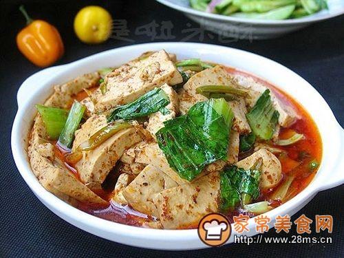 快手农家味――西北农家煎豆腐的做法