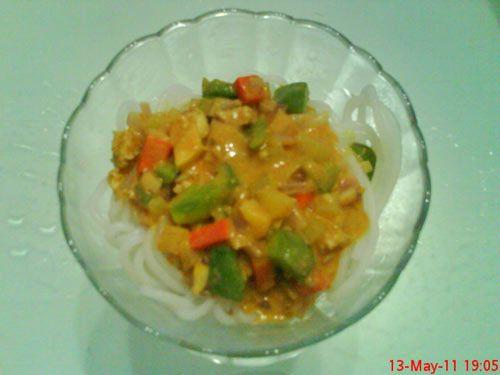 咖喱桂林米粉的做法