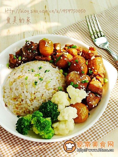 金秋时节的家常滋补餐----板栗烧鸡饭的做法