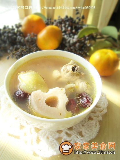 鸡肉莲藕汤的做法
